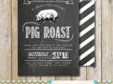 Birthday Pig Roast Invitations Pig Roast Party Invitation Birthday House Warming Couples