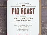 Birthday Pig Roast Invitations Pig Roast Table Cloth Invitations Pig Roast Pig Roast