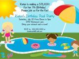 Birthday Pool Party Invitation Ideas Bear River Greetings Pool Party Birthday Invitation