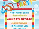 Birthday Pool Party Invitation Ideas Pool Party Birthday Invitation Boy