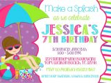 Birthday Pool Party Invitation Ideas Pool Party Invitation Wording Template Markit2d