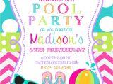 Birthday Pool Party Invitation Ideas Pool Party Invitations