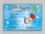 Birthday Pool Party Invitation Ideas Stunning Pool Party Birthday Invitations You Can Modify