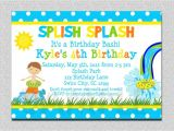 Birthday Pool Party Invitation Wording 18 Birthday Invitations for Kids – Free Sample Templates