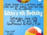 Birthday Pool Party Invitation Wording Kid Pool Party Invitation Wording