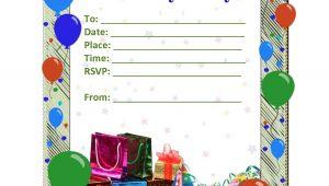 Birthday Postcard Invitations Templates Free Kids Birthday Card Template Resume Builder
