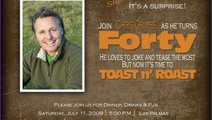 Birthday Roast Invitation Wording toast N Roast Birthday Invitation