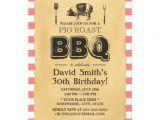 Birthday Roast Invitations Classic Red Plaid Pig Roast Bbq Birthday Party 5×7 Paper