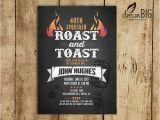 Birthday Roast Invitations Roast and toast Birthday Invitation Adult 21st 30th