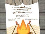 Birthday Roast Invitations Weenie Roast Adult Birthday Party