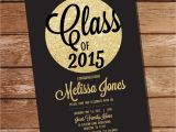 Black and Gold Graduation Party Invitations Black and Gold Graduation Invitation Gold by Sunshineparties