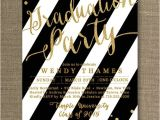 Black and Gold Graduation Party Invitations Gold Black and White Graduation Party by Digibuddhapaperie