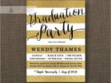 Black and Gold Graduation Party Invitations Gold Black Graduation Party Invitation Gold Glitter