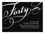 Black and White 40th Birthday Party Invitations Black and White 40th Birthday Invitations Zazzle