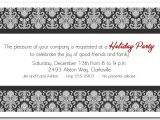 Black and White Christmas Party Invitations Black White Enchanting Damask Holiday Invitations