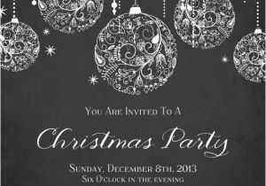 Black and White Christmas Party Invitations Printable Sparkle Christmas Invitation by
