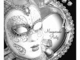 Black and White Masquerade Party Invitations Black and White Masquerade Party 5 25×5 25 Square Paper
