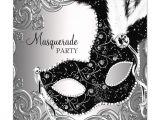 Black and White Masquerade Party Invitations Black and White Masquerade Party Invitations Www Imgkid