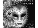 Black and White Masquerade Party Invitations Invitation Template This Black and White Masquerade Party