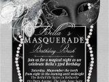 Black and White Masquerade Party Invitations Masquerade Party Invitation Mardi Gras Party Party