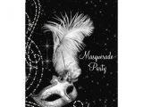 Black and White Masquerade Party Invitations Personalized Black White Masquerade Party Invitations