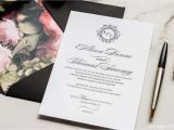 Black Tie On Wedding Invitation Black Tie Magva Design Letterpress
