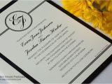 Black Tie On Wedding Invitation Black Tie Wedding Invitation Wording