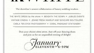Black White Party Invitation Wording White Party Invitation Wording Unique Braesd Com