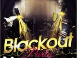 Blackout Party Invitations Flyer Psd Template Blackout Party Cover Gfx