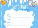 Blank Baby Boy Shower Invites theme Blank Baby Shower Invitation