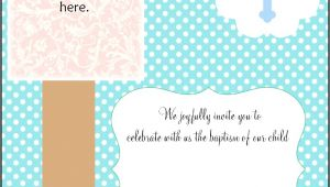 Blank Baptismal Invitation Layout Free Christening Invitation Cards