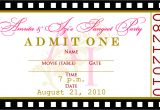Blank Birthday Invitation Template Signatures by Sarah Movie Ticket Escort Cards and