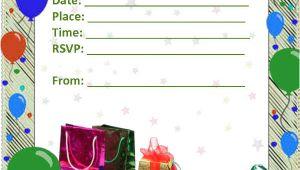 Blank Birthday Party Invitation Template 52 Birthday Invitation Templates Psd Ai Free