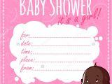 Blank Girl Baby Shower Invites 30 Baby Shower Invitations Printable Psd Ai Vector