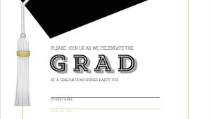 Blank Graduation Invitation Cards Classic and Modern Graduation Cap Fill In the Blank