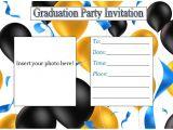 Blank Graduation Party Invitations Templates Graduation Invitation Templates