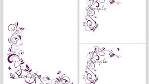 Blank Invitation Wedding Template Floral Blank Wedding Invitation Templates Wedding and Bridal