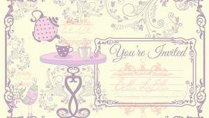 Blank Tea Party Invitation Template Tea Party Invitation Blank Downloadable