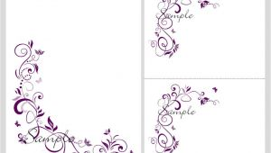 Blank Template for Wedding Invitation Floral Blank Wedding Invitation Templates Wedding and Bridal
