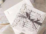 Blank Wedding Invitation Sets Design 10pcs Set Floral Bow Wedding Invitations Blank