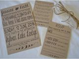 Blank Wedding Invitation Sets Rustic Wedding Invitations Set Of 25 Includes Blank
