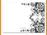 Blank Wedding Invitation Templates Black and White 5 Blank Black and White Wedding Invitation Templates