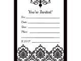 Blank Wedding Invitation Templates Black and White Black and White Blank Invitations