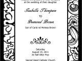 Blank Wedding Invitation Templates Black and White Blank Wedding Invitation Templates Black and White