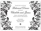 Blank Wedding Invitation Templates Black and White Branches Black On White Rehearsal Dinner Invitations