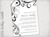Blank Wedding Invitation Templates Black and White Wedding Invitation Templates Black and White