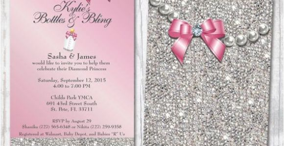 Bling Baby Shower Invitations 14 Best Bling Baby Shower Invitations Images On Pinterest