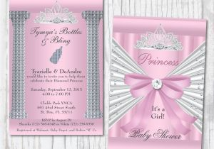 Bling Baby Shower Invitations Bling Baby Shower Invitations Pink Princess Baby Shower