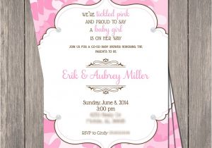 Bling Baby Shower Invitations Pink Camo Bling Baby Shower Invitation Printable 5 X