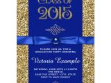 Blue and Gold Graduation Invitations Royal Blue and Gold Graduation Announcements Zazzle Com